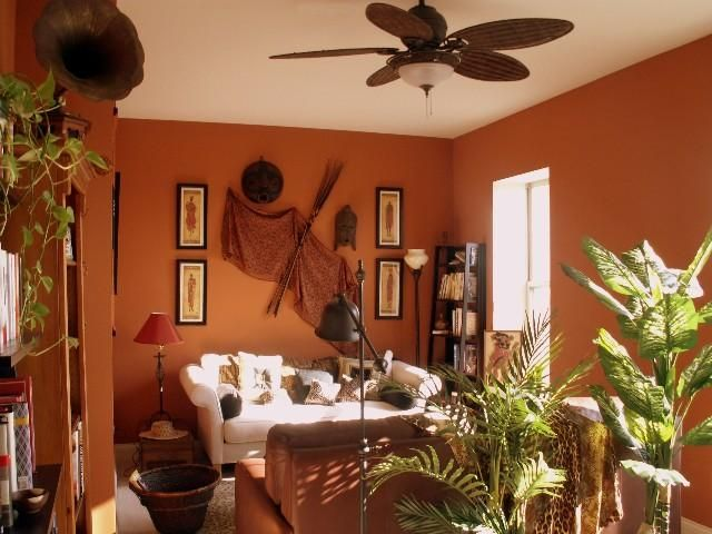 African Ethnic Themed Living Room Decorating (640× Part 78