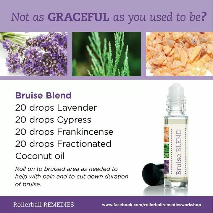 Bruise Blend Essential Oil Rollerball Recipies