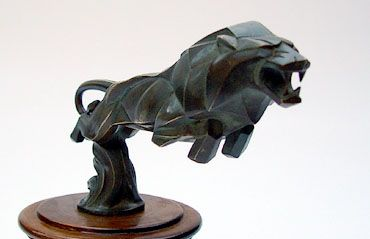 1920 Deco Brau Lion Car Mascot, Hood Ornament
