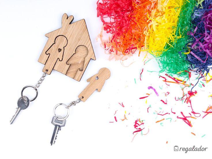 Llavero doble para parejas ¡Es el llavero más romántico! Y la mejor forma de colocar las llaves al llegar a casa