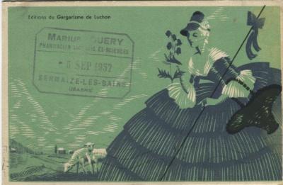 Editions du Gargarisme de Luchon Postcard c 1932