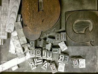 Hannah Lamb: Learning my letters Bradford College - printmaking #metal_type #typography