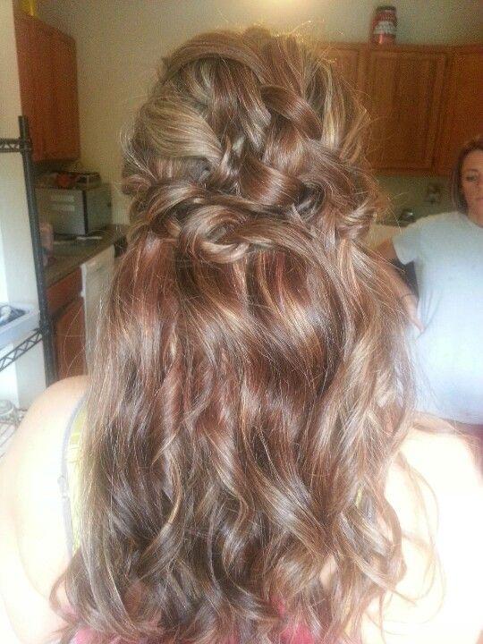 Bridesmaid hair Wedding Long hair