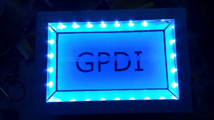 GPDI logo in led. Can change colours, by RannDago.
