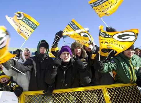 Green Bay Titletown USA | Packers celebrate Super Bowl win with 56,000 fans at Lambeau Field