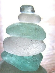 Orig pinner says:make your own sea glass. Glass in jar with sand