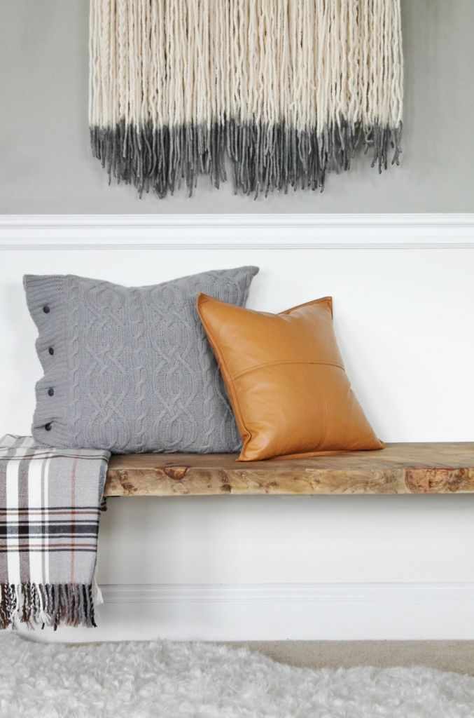 The Easiest DIY Live Edge Bench. Rustic Bedroom BenchesModern ...
