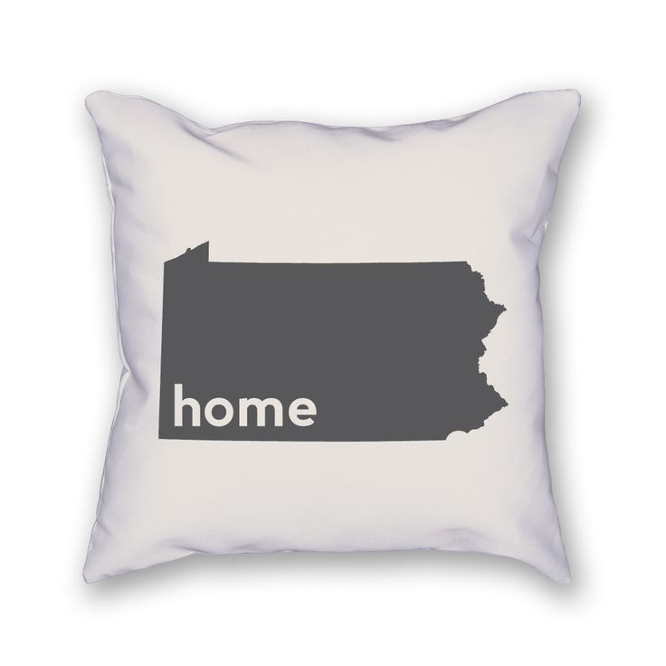 "The Pennsylvania Pillow is an 18""x18"" pillow showing off your home state! The pillow is already stuffed and ready to be displayed."