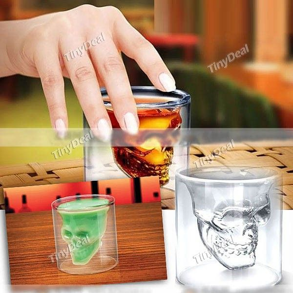Cool Crystal Skull Shot Glass Food Safe Drinking Ware Glassware http://www.tinydeal.com/fr/crystal-skull-shot-glass-p-48756.html
