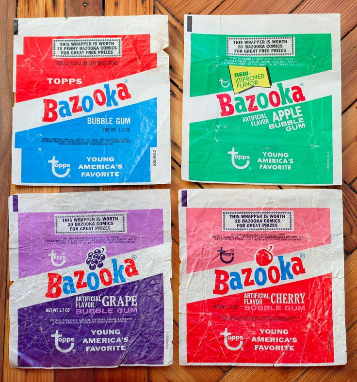 What are the ingredients in Bazooka Joe bubble gum?
