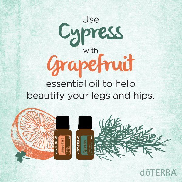 Big plans for spring break? Rub Cypress and Grapefruit essential oil with Fractionated Coconut Oil on your trouble areas to help tighten and smooth skin.