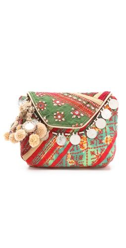 Antik Batik Banjo Clutch. Luxe embroidery adds a free-spirited feel to a casual cotton clutch from Antik Batik. I prefer this one as a pouch inside my large bags to add some fun!