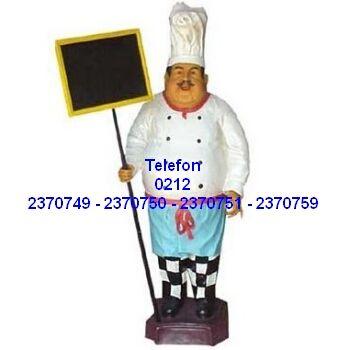 Menü Levhalı Aşçı Heykeli Satış Telefonu 0212 2370750 En kaliteli menü mankenleri döner maketleri aşçı heykellerinin tüm modellerinin en uygun fiyatlarıyla satış telefonu 0212 2370749