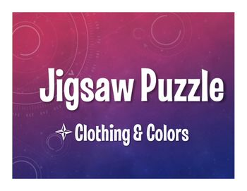 Note: These materials were prepared by an individual and have neither been developed, reviewed, nor endorsed by Houghton Mifflin Harcourt Publishing Company, publisher of the original AVANCEMOS work on which this material is based. A jigsaw puzzle is a great tactile activity that works for