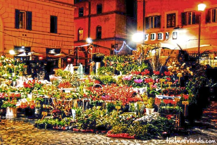 """Campo de' Fiori"" the Rome flowers market"