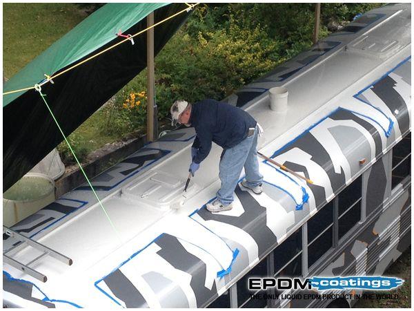 Material Analysis Using Liquid Rv Roof To Fix Common Rv Problems In 2020 Roof Repair Rv Roof Repair Liquid Roof