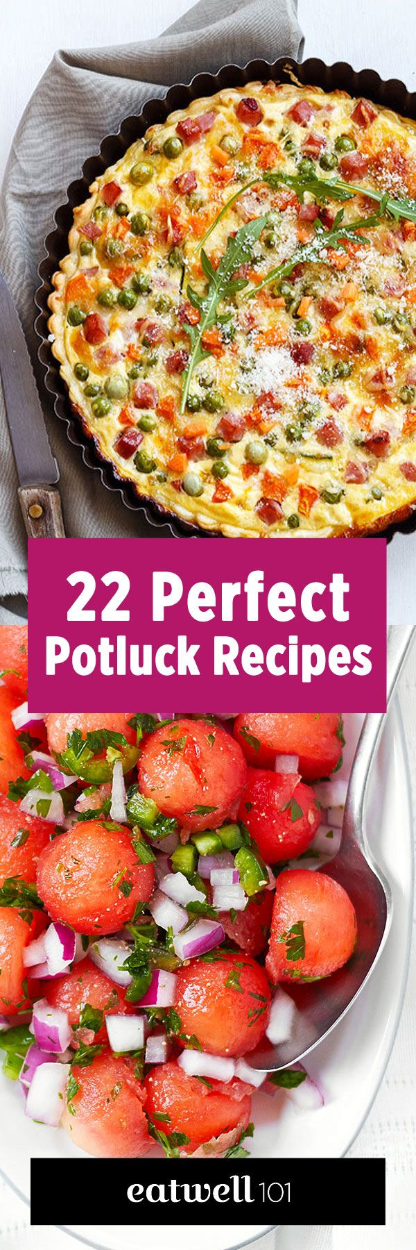 If you are looking for simple, yet tasty dish ideas for your next potluck party, this selection putting an accent on fresh flavors is definitely what you need. Choose from this collection, from sal…