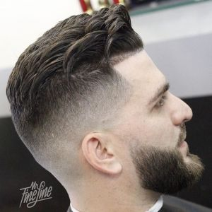 Medium Fade with Messy Pompadour - best hairstyles for men