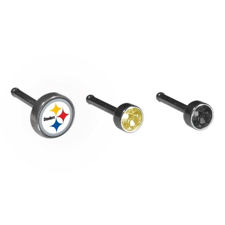 Pittsburgh Steelers Nose Bone Stud Set of 3 FNSR160-20