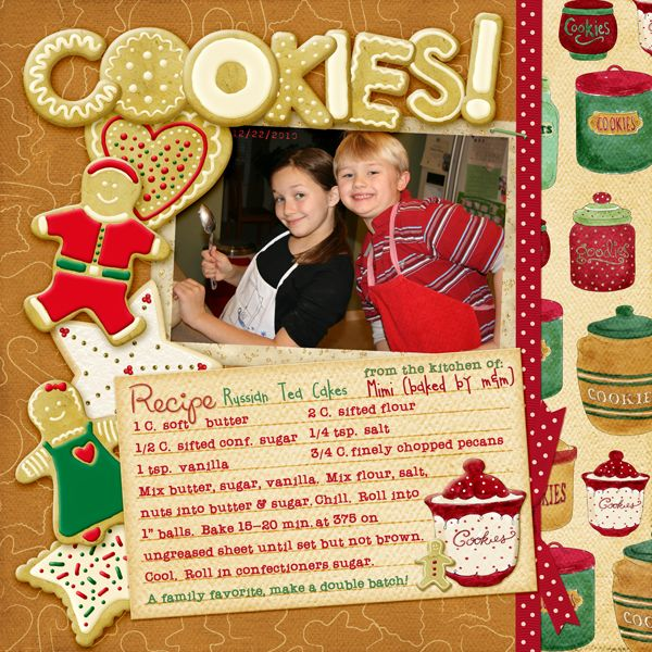 Cookies digital scrapbooking layout also have free for Scrapbooking cuisine