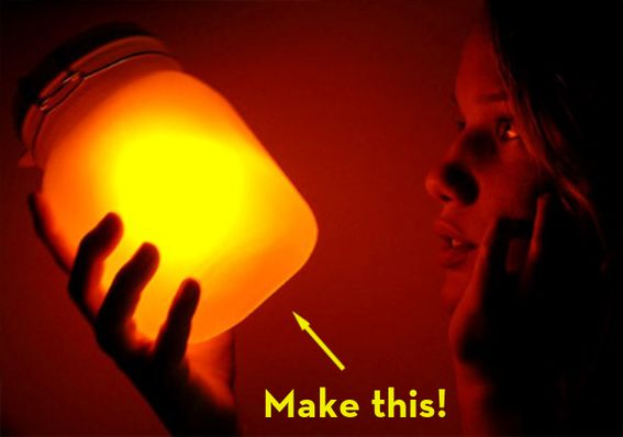 "How To: Make Your Own Solar-Powered ""Sun Jars""!Sunjar, Solar Lights, Night Lights, Solar Lamps, Solar Power, Sun Jars, Jars Lights, Mason Jars, Diy Solar"