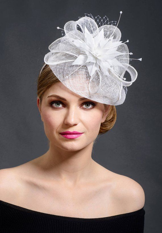 White stunning fascinator hat for your special occasions Last  0008bf59148