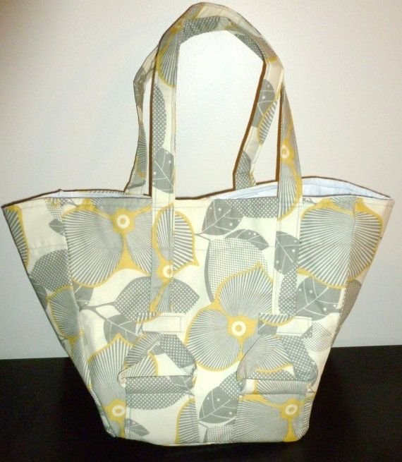I LOVE this fabric! The Schon in Midwest Modern Optic Blossom  tote by TheeFireWife, $35.00