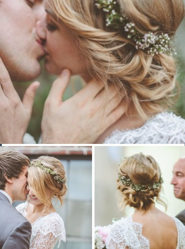 Wedding flowers in hair