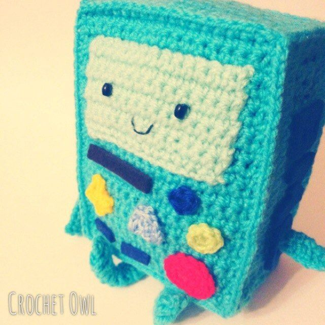 bmo adventure time crochet patterns | Crochet BMO from Adventure time by Vinogradova Alexandra