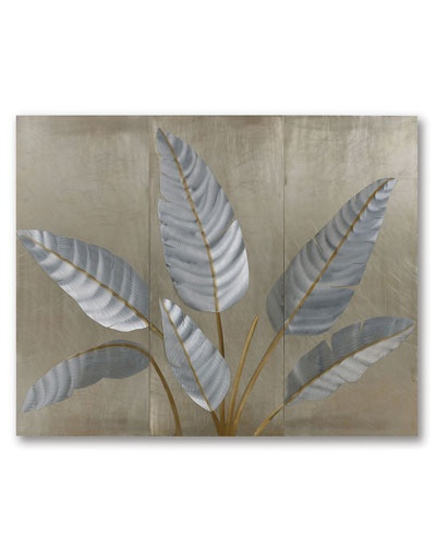Jon gilmore metallic leaves wall graphic home decor pinterest Metallic home decor pinterest