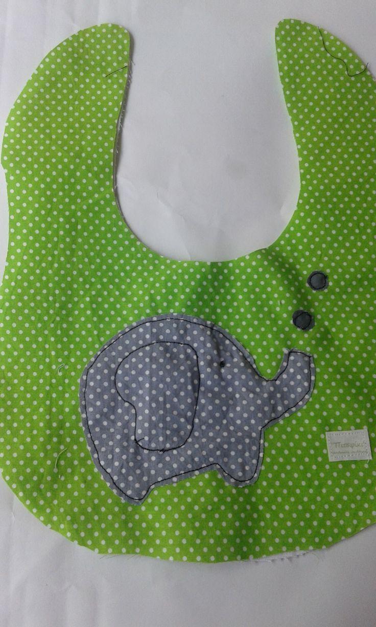 Green elephant bib