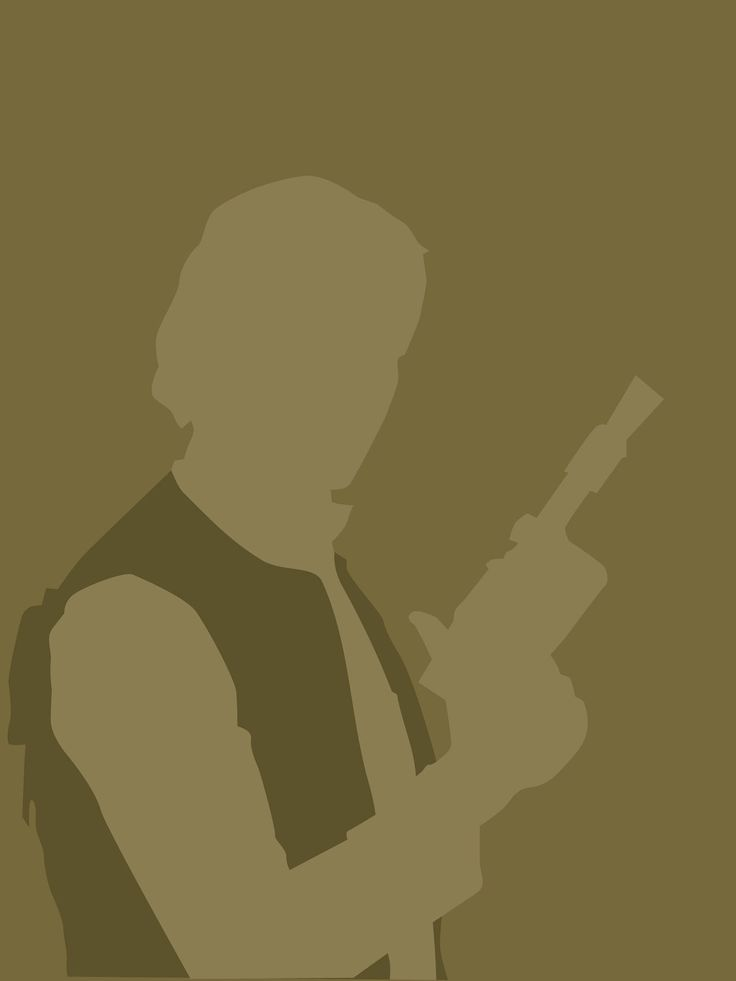 Han Solo 8x10 Star Wars minimalist poster in olive green. $20.00, via Etsy.