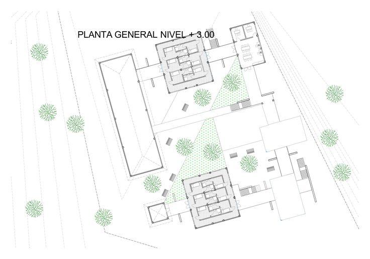 planta general y plaza interna  del monasterio