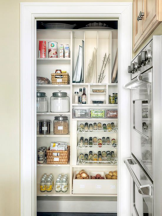 In A Small Kitchen, Removing The Pantry Door Allows For Easier Access And  Keeps The