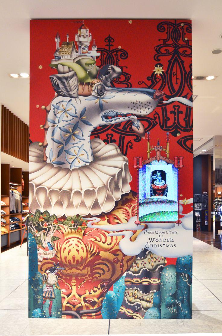 Klaus Haapaniemi Wonder Christmas 2012 Isetan Mens shop display