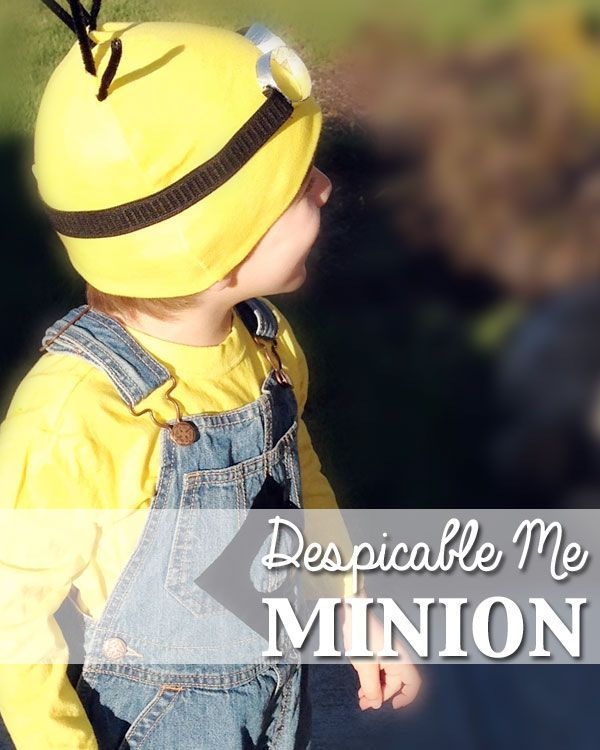 Your little one is sure to be thrilled with this homemade Despicable Me Minion Halloween costume idea! /// Atkinson Drive