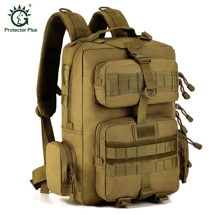 Protector Plus MOLLE Military Tactical Backpack Outdoor Climbing Bags Waterproof Travel Rucksacks Men's Sport Hiking Bags