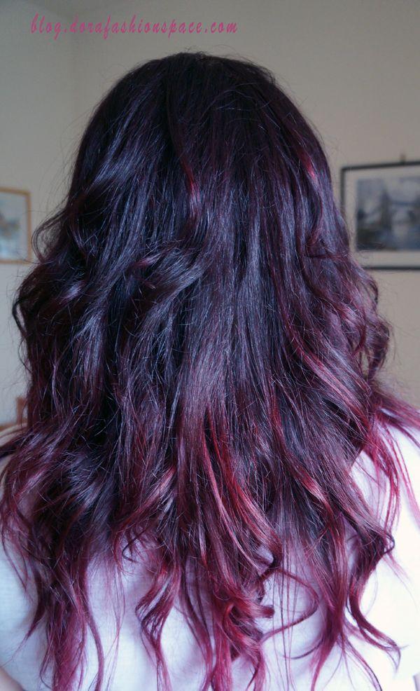 Purple magenta hair