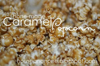 House and Hone: Hone-made Caramel PopcornCaramel Popcorn, Corn Syrup, Honemade Caramel, Brown Sugar, Hone Mad Caramel, Sweets Treats, Popcorn Recipe, Canes Sugar, Caramel Corn