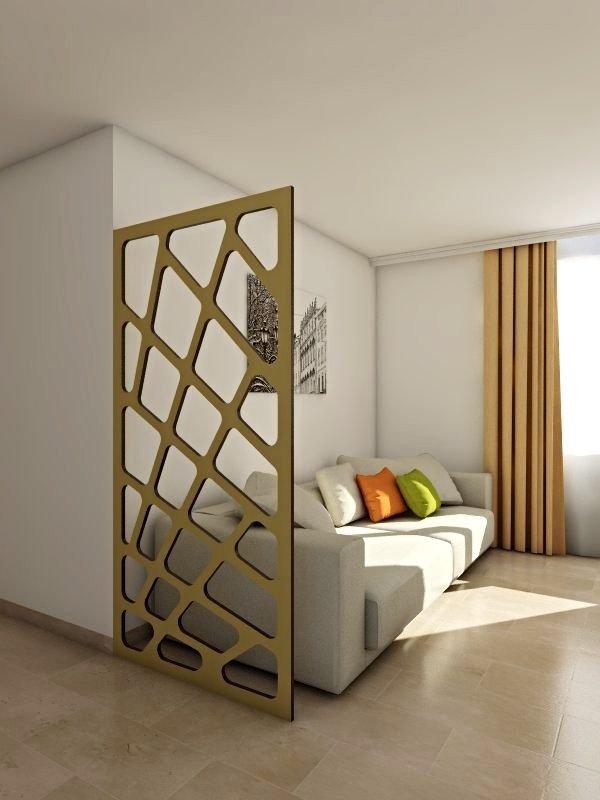 room divider / claustra bois motif en diagonales