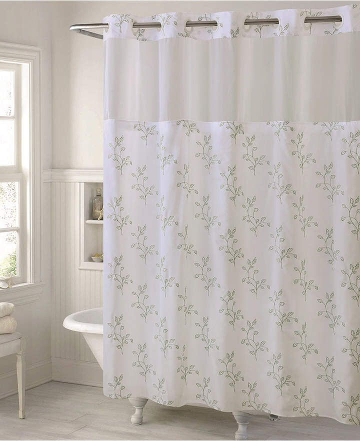 Hookless Spring Leaves Shower Curtain Liner Hookless Shower