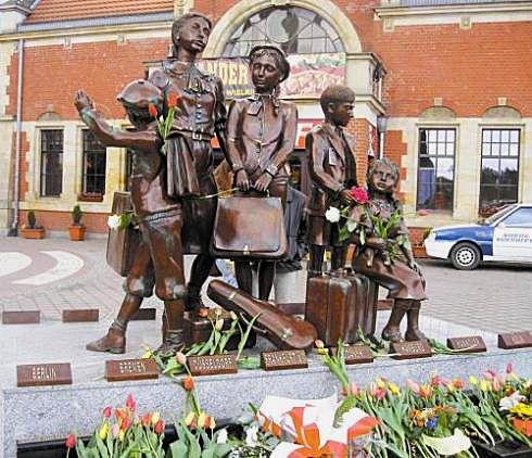 Kinder-transport memorial at Gdansk, Poland