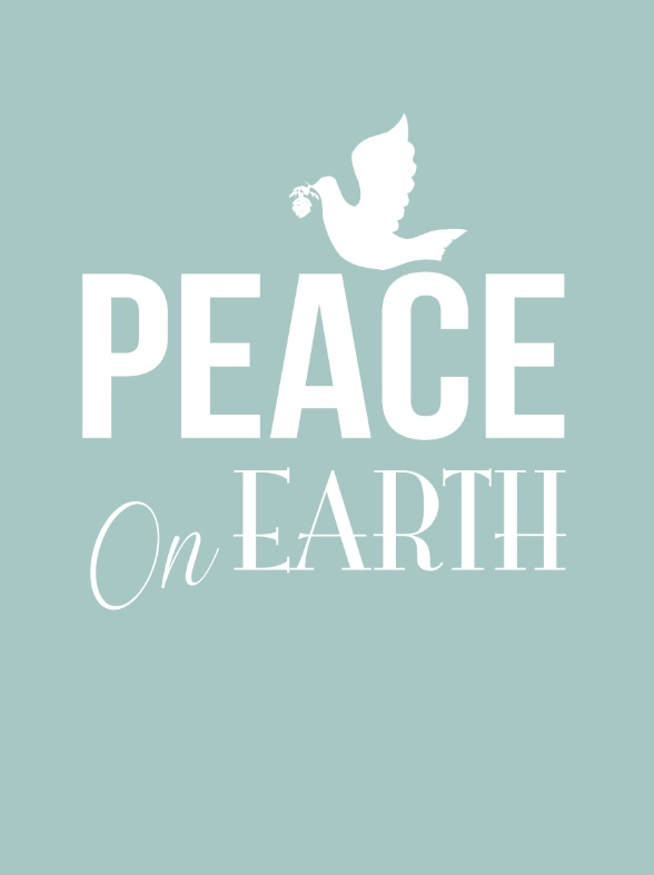 Peace on earth poster - Christmas poster