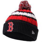 Boston Red Sox New Era Women's Wintry Warm Knit Beanie – Red/Navy Blue