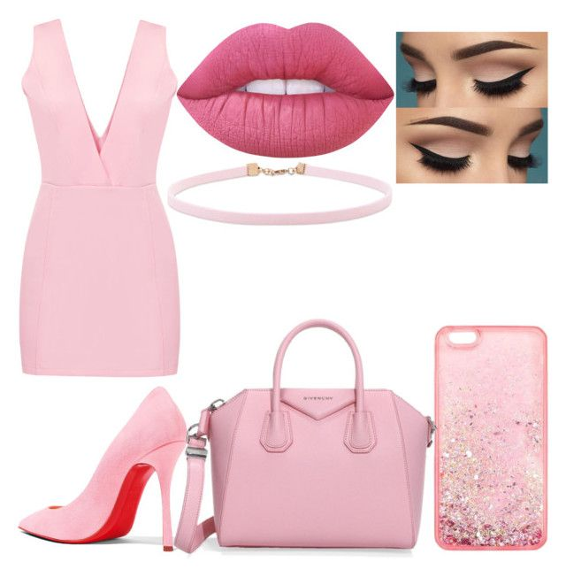 """Bubblegum Bitxh #5"" by raineingboties on Polyvore featuring Christian Louboutin, Lime Crime, Forever 21 and Givenchy"