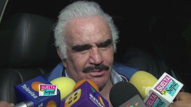 Vicente Fernández reacciona ante la supuesta hija que le apareció (VIDEO)