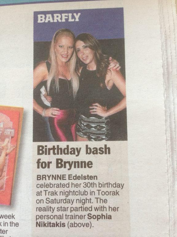Brynne Elelsten celebrated her birthday at Strut Saturdays last week @Trakr . Live Lounge Bar