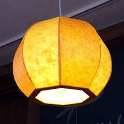 Korean Mulberry Paper Ceiling Lamp with Pumpkin Design