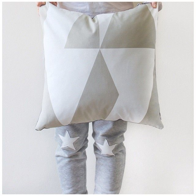 Jennifer + Smith Cushion Selfie | White Geo | Mute Collection | www.jenniferandsmith.com