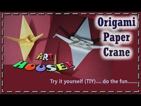 Origami Paper Crane in New Avatar| How to make Flapping bird by Art House!